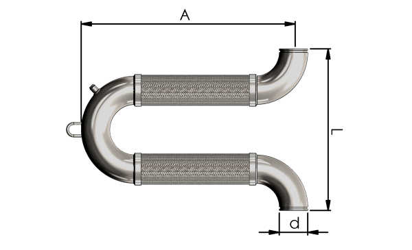 U-Flex Omage Loop Seismic Connection Hose Dimensions